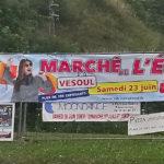 Banderole - Vitrines de Vesoul - Situation