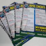 Tracts programme - impression numérique