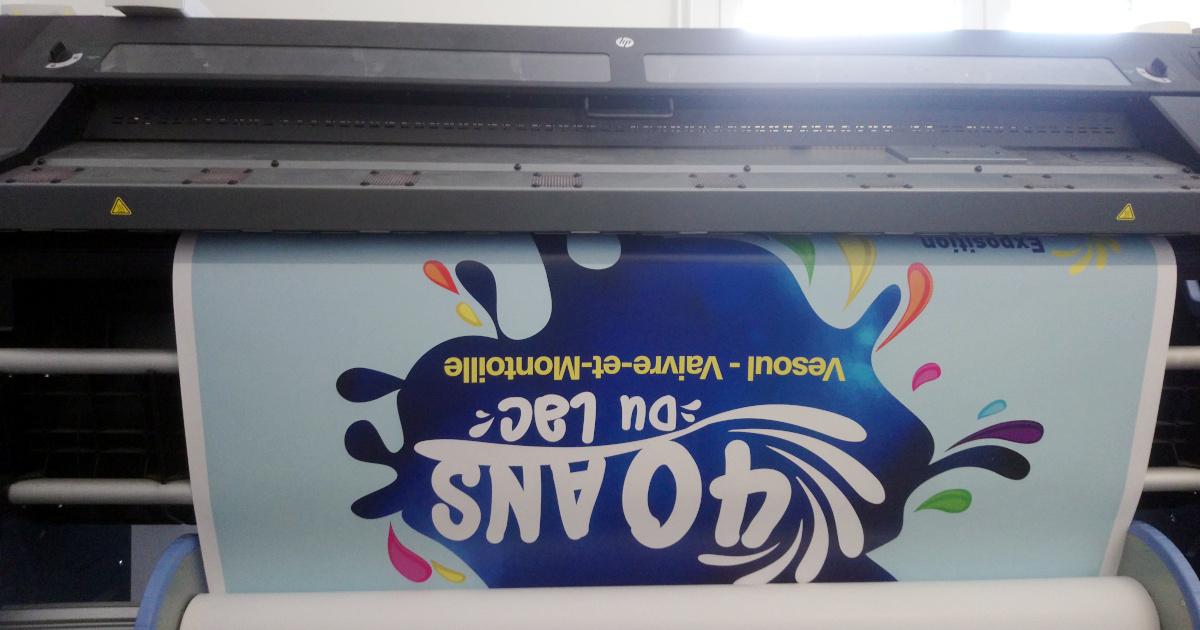 Affiche 120x180cm pour annoncer l'événement - Impression numérique
